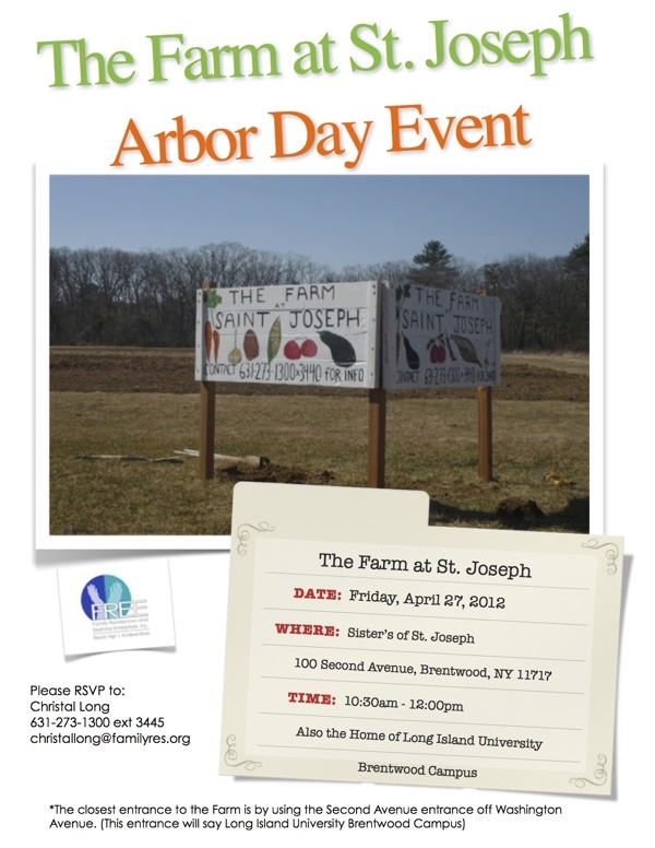 On Long Island: Arbor Day on the Farm at St. Joseph
